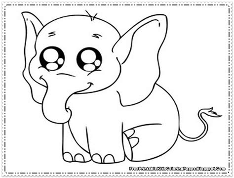 elephant coloring pages printable  printable kids