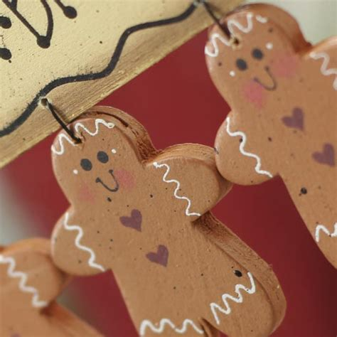 primitive wood gingerbread cookie ornament sign
