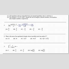 Math Subject Gre Practice Exam #1 Gr1268 Youtube
