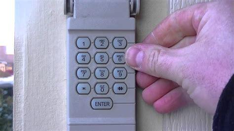 how to change a garage code how to reset your garage door keypad pin number