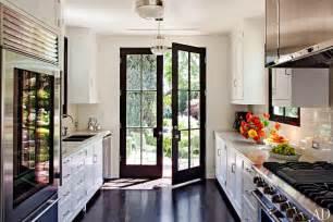 matte black kitchen faucet galley style kitchen contemporary kitchen architectural digest