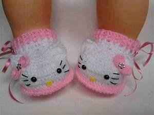 Zapatitos Hello Kitty Bebé Tejidos A Mano Crochet Varios Mod $ 170 00 en Mercado Libre