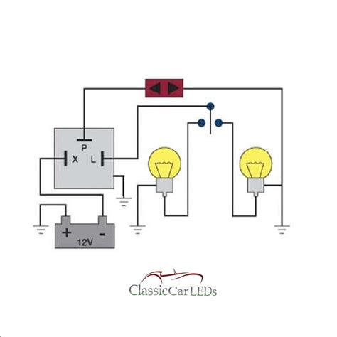 Wiring Diagram For Motorcycle Indicator by 12v Electronic Indicator Flasher Hazard Relay Classic