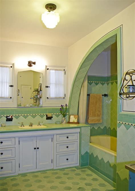 art deco bath   spanish colonial house design