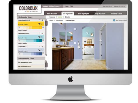 this is awesome you can upload a of your room and paint it to try out different colors