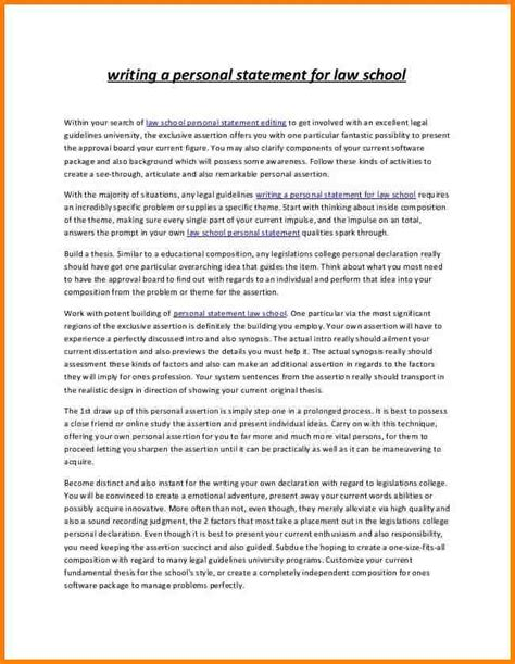 How To Write A Personal Statement For by 8 School Personal Statement Exles Attorney