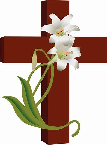 Cross Lilies Clipart Ministries Clip Easter Bible