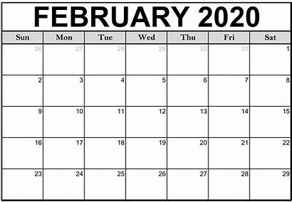 Calendar Printable January Fillable Monthly February Blank