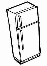 Fridge Coloring Clipartbest Freezer Clipart sketch template