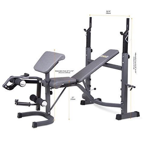 Body Champ Bcb5860 Olympic Weight Bench With Preacher Curl