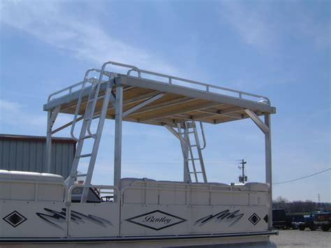 Pontoon With Upper Deck And Slide For Sale by Exceptional Pontoon Boat Decking 8 Pontoon Boats With