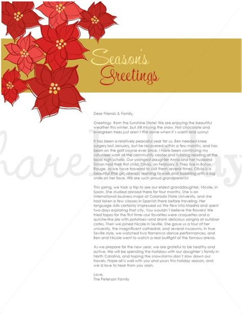 holiday letter template   word  psd format
