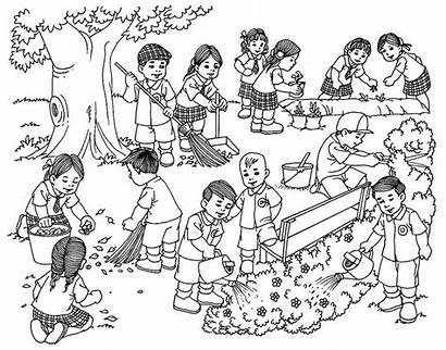 Cleaning Drawing Memory Composition Surrounding Children Colouring