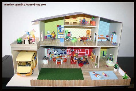 decoration fait maison maison playmobil fait en cartonnage le de mamie suzette d 233 co des