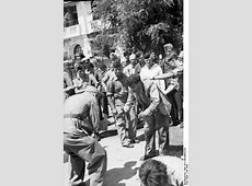 Thessaloniki, Greece, July 1942 Jewish man is forced to