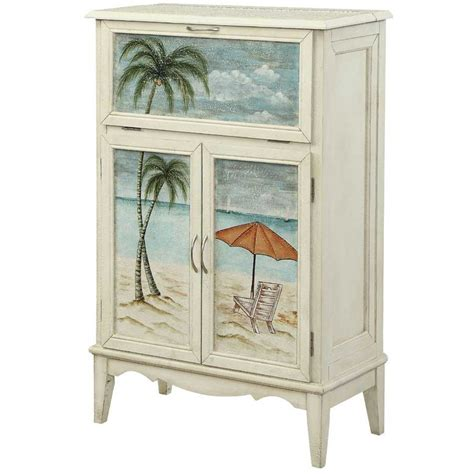 Coastal Kitchen Ideas - coast to coast 78688 arcadia two door drop lid bar cabinet in textured white homeclick com
