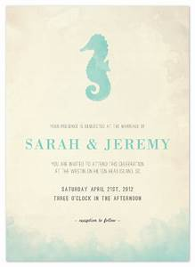 Wedding invitations under the sea at mintedcom for Minted beach wedding invitations