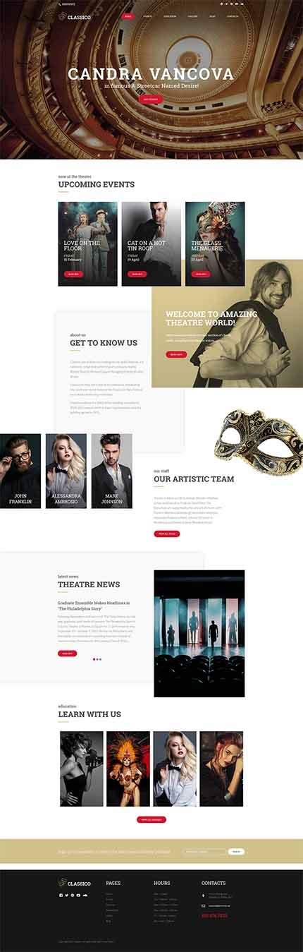 Theatre Responsive Website Template by Classico Theater Responsive Themes