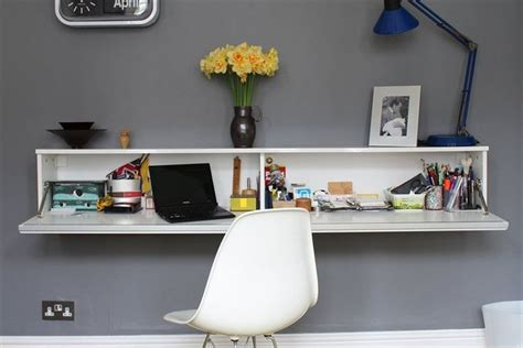 Wall Mounted Desk Ikea Hack by The Best 197 Burs Shelf Makes A Fold Away Desk Space