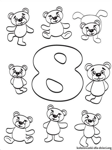 kolorowanka cyfra lub liczba  osiem kolorowanki dla dzieci