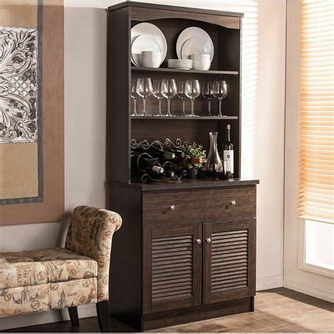 Kitchen Buffet by Espresso Buffet Microwave Kitchen Storage Cabinet Cupboard