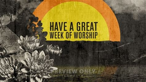 circle sunrise great week worship title graphics