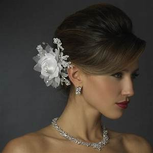 Rose Flower Hair Clip Elegant Bridal Hair Accessories