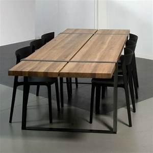 Table à Manger Bois Et Métal : la table salle manger ne cesse de surprendre ~ Teatrodelosmanantiales.com Idées de Décoration