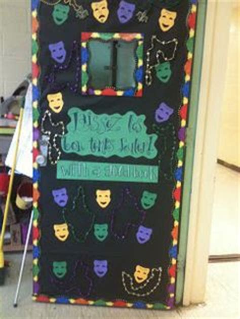 mardi gras door teaching classroom environment and