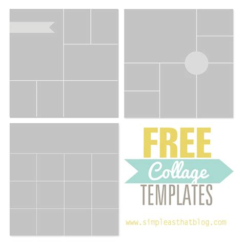 photo collage templates  simple