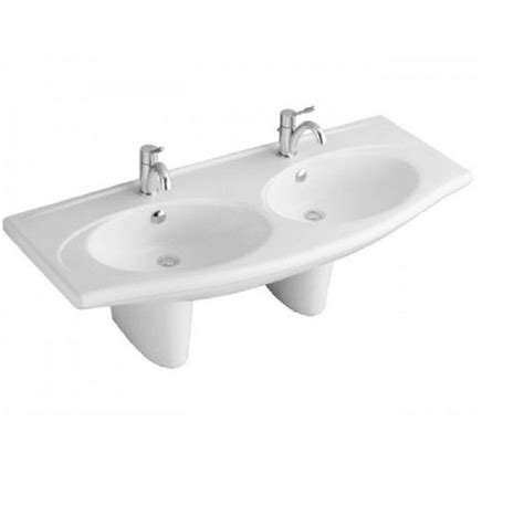 doppelwaschbecken villeroy boch villeroy boch velvet doppelwaschbecken 130cm weiss 71911301 de baumarkt waschbecken