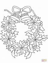 Coloring Wreath Christmas Pages Printable Drawing Dot Holidays sketch template