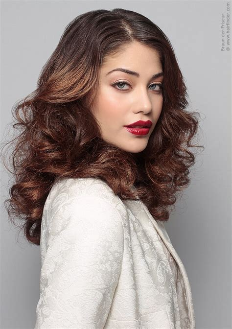 Hairstyles For With Hair by Hairstyle With Thick Volume And Curls That Cascade