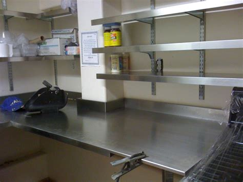 Stainless Steel Wall Mounted Kitchen Shelves With Fixed