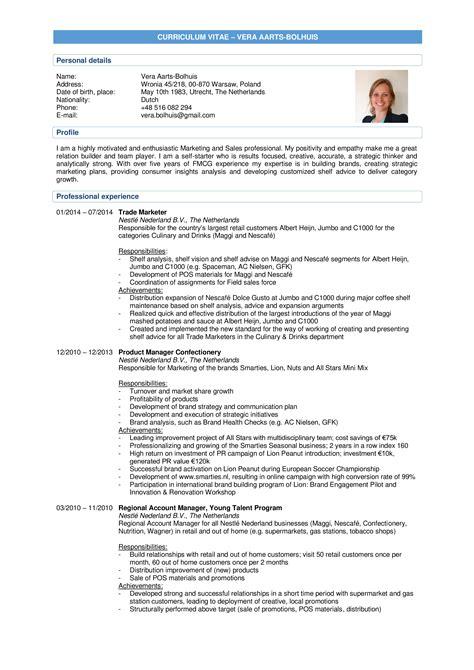 trade marketing analyst cv template templates at
