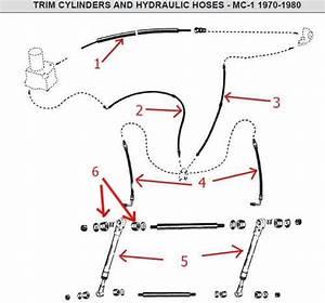 Mercruiser Trim Cylinder And Hoses