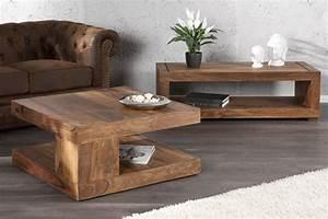 Table Basse En Bois : table basse de salon en bois exotique ~ Teatrodelosmanantiales.com Idées de Décoration