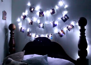 guirlande lumineuse d馗o chambre fabriquer une guirlande lumineuse porte photos
