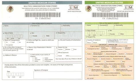 Mexico Visa Form