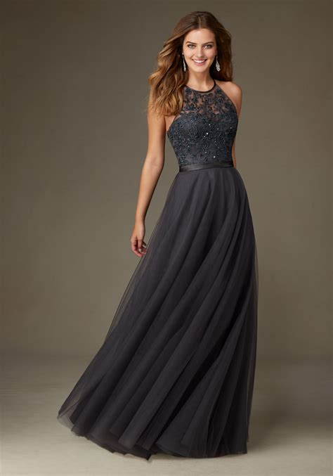Bridesmaid Dress With Embroidery And Beading  Style 136