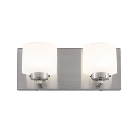 led bathroom vanity lights home depot lumens by avenue polished nickel led bath