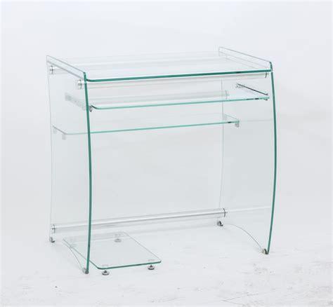 Scrivania porta PC in vetro trasparente IDFdesign