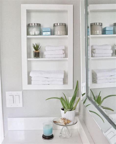 built  bathroom shelf  storage ideas
