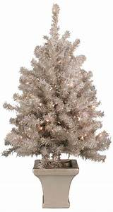 Battery Operated Led Christmas Tree Lights Walkway And Tabletop Trees 3 39 Potted Silver Laser Table