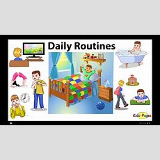 Daily Routines Vocabulary Youtube