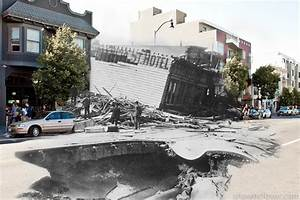 Composite photographs blend scenes from the 1906 san for Photographs blend scenes from the 1906 san francisco earthquake and present day