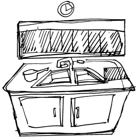 dessin evier cuisine evier dessin