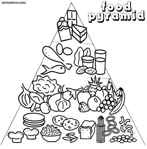 cuisine color coloring pages of food pyramid coloring best free