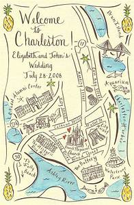 couture maps by stephannie barba welcome to charleston top With wedding invitation map creator free
