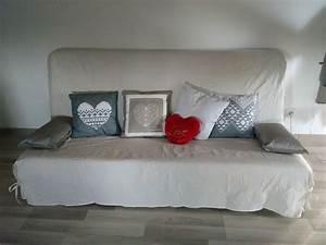 housse clic clac babou table de lit a roulettes With tapis champ de fleurs avec canapé lit pour studio